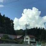 """やっぱり夏です!! 入道雲を見ると""""夏だな""""と感じます"""